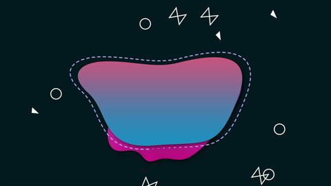 Motion small geometric shapes, colourful abstract background Animation