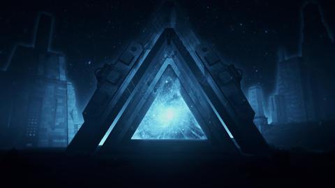 Blue Sci-Fi Ancient Portal Stargate - Epic VJ Loop Background Animation