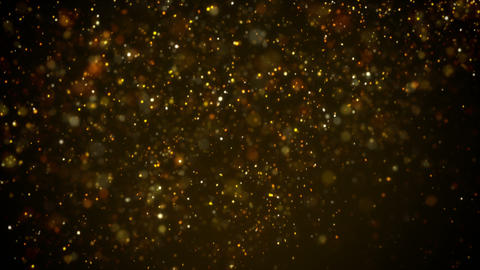 Golden light shine particles falling abstract background loopable Animation