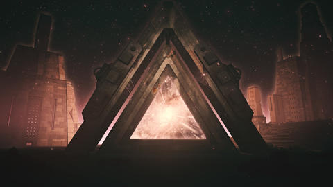 Sci-Fi Ancient Portal Stargate - Epic VJ Loop Background Animation