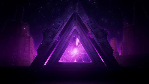 Purple Sci-Fi Ancient Portal Stargate - Epic VJ Loop Background Animation