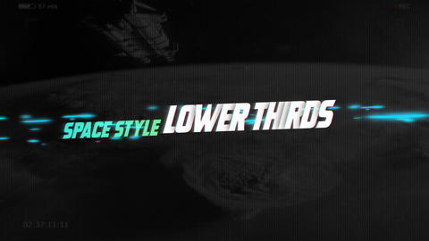 Lower Thirds Space After Effects Template