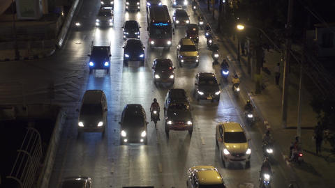 Traffic jam on the streets of Bangkok, Thailand Footage