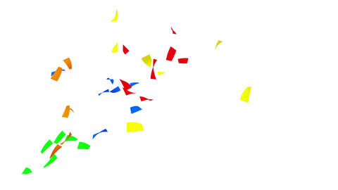 Confetti 1 Slant Fix 1XcW M 4k CG動画素材