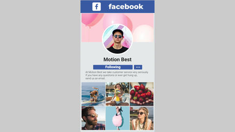 Facebook Promo Apple Motion Template