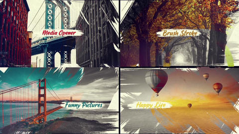 Stylish Brush Strokes After Effects Template