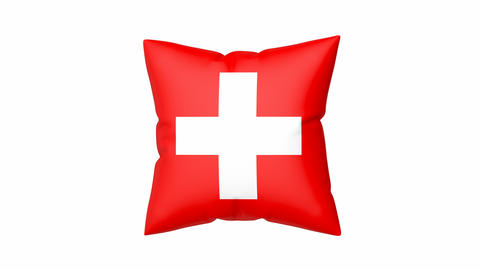 Pillow with the flag of Switzerland Animation