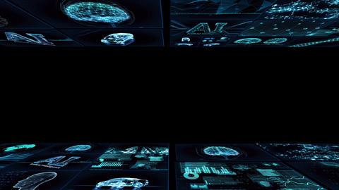 Digital Network TechnologYAI artificial intelligence data concepts Background YD1 Mix blue Animation