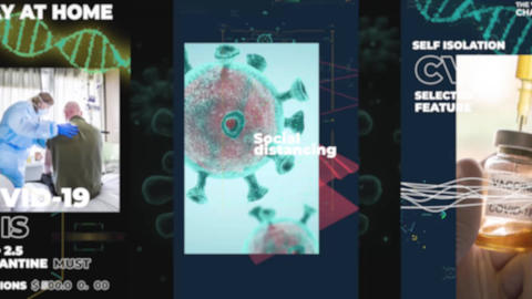 Instagram Stories: Coronavirus Pack After Effects Template