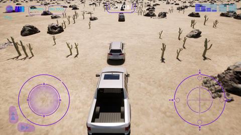 Desert 3d fake car game, Iot auto, Autopilot car gps Live Action