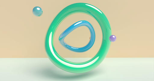 Color primitive motion graphic on colorful background. Graphic illustration. 3d Live Action