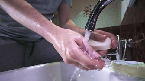 Washing hands as protective measures against coronavirus COVID-19 disease. MERS Live Action