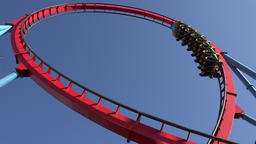 Roller Coasters And Thrill Rides Footage