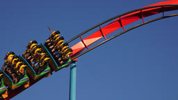 Thrilling Fun And Excitement Of Coaster Ride Footage