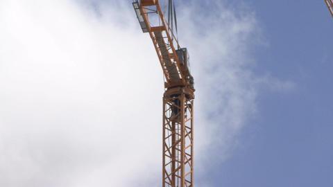 Construction crane installation Footage