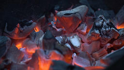 Red hot coals Footage