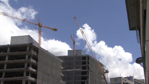 Construction crane installation Footage