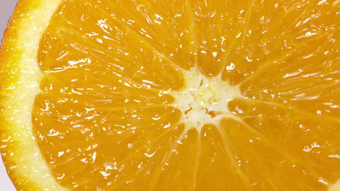 Close-up of a delicious orange rotating Footage