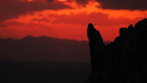 4K Timelapse from the Kokino, megalithic observatory in Macedonia. Blur backgrou Footage