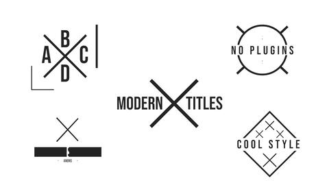 X Titles Motion Graphics Template