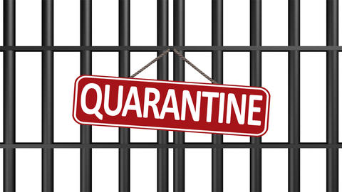 Iron door quarantine black GIF