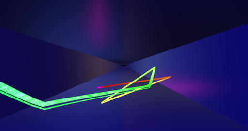Abstract Seamless Looped Animation of Lines Through the Tunnel Live Action