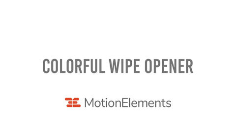 Colorful wipe opener After Effects Template