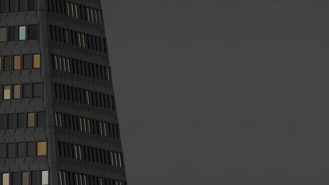 Skyscraper Lights At Night Animation