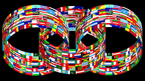 Flags Of The World Rotate. 3d Animation 0