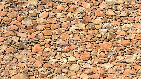 3D animation, stone wall, wall breaking exploding (3) Animation