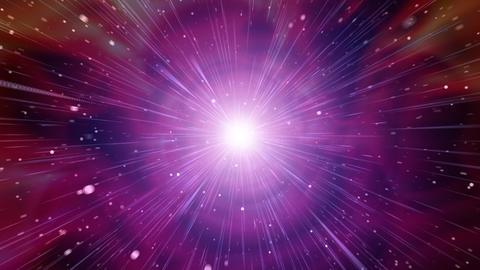 宇宙をワープ CG動画