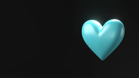 Pale blue broken heart objects in back text space Animation