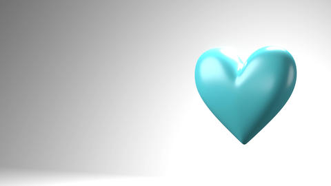 Pale blue broken heart objects in white text space Animation
