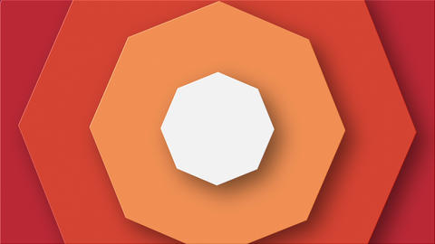 Elegant Background With Rotating Octagons Animation