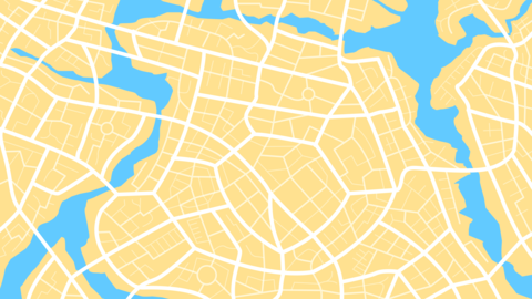 Clean top view of the day time city map 001 Vector