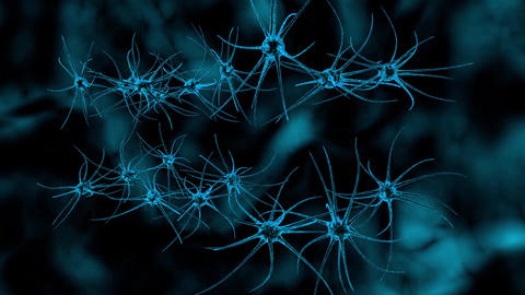 Abstract animation of neuron cells Animation