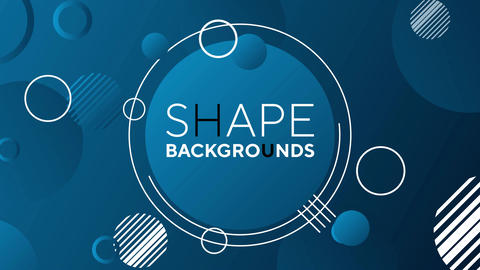 Shape backgrounds After Effects Template