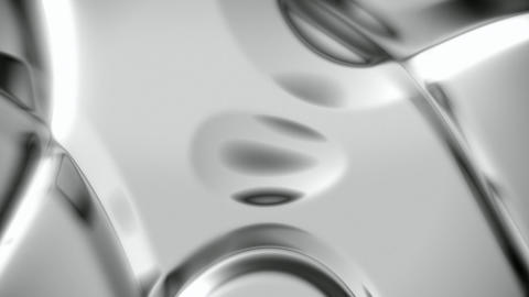 Silver metallic abstract background with soft folds seamless loop Animation