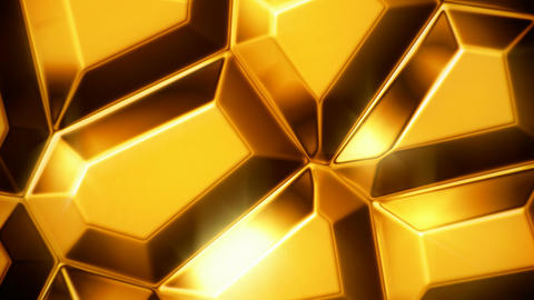 Moving gold bullion bars motion background seamless loop Animation