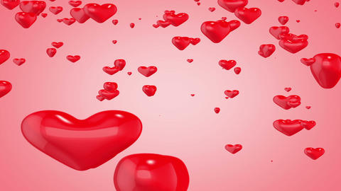 3d Heart Background_falling Animation