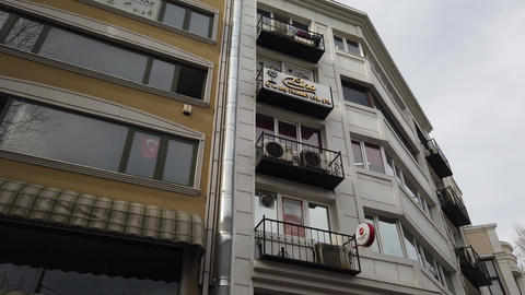 Istanbul, Turkey, 2nd of Feb 2020, buildings and historical infrastructures along the streets of Live Action
