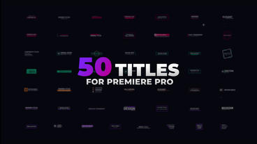 Modern Titles Premiere Pro Template