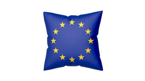 European flag on pillow Animation