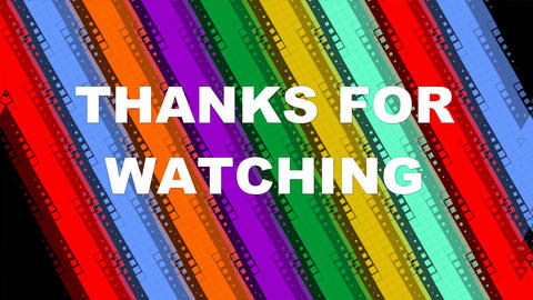 Thanks for watching, animated lettering on animated background with diagonal Animation