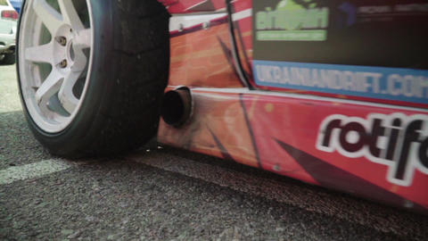 Racing car in the pitstop. Car sport. Slow motion. Race.…, Live Action