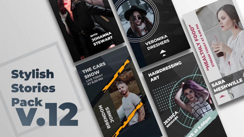 Stylish Stories Pack v 12 After Effects Template