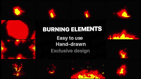 Burning Elements After Effects Template