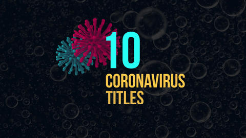 Coronavirus Titles After Effects Template