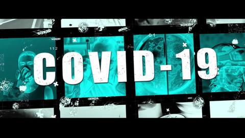 COVID-19 Pandemic Coronavirus - Horror Trailer Presentation After Effectsテンプレート