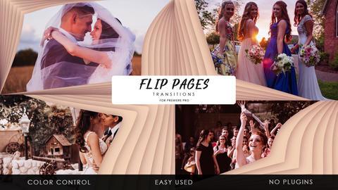 Transitions - Flip Pages Plantillas de Premiere Pro